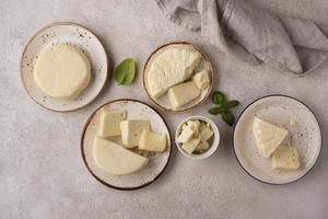 a deliciosa composição de queijo paneer foto