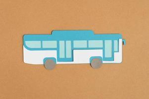 composição de estilo de papel de transporte urbano foto