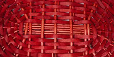 textura de cesta em tecido vermelho para o fundo foto
