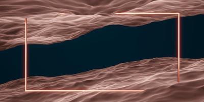 moldura quadrada e cena de estúdio de geometria de superfície de água para o produto foto