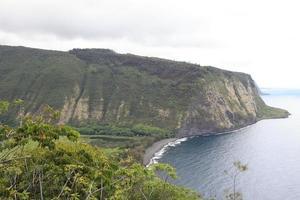 Vale Waipi'o, grande ilha do Havaí foto