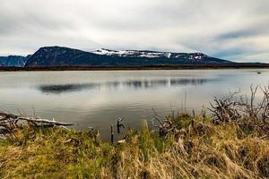 trilha ao redor das quedas. parque nacional gros morne, newfoundland, canadá foto