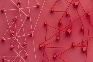 conceito abstrato de rede composição de natureza morta foto
