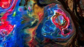 pincel de pintura abstrato de tinta suave conceito padrão simétrico foto