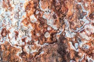 superfície de rochas salgadas de padrão natural foto