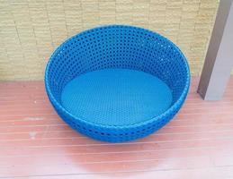 ao ar livre com cadeira circular foto