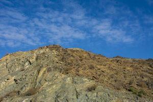 paisagem montanhosa em taif foto