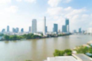 borrão abstrato cidade de Bangkok para o fundo foto