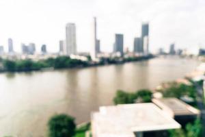 borrão abstrato cidade de Bangkok na Tailândia - filtro vintage foto