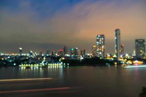 borrão abstrato cidade de Banguecoque na Tailândia à noite foto