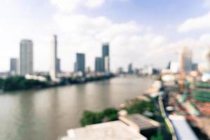 borrão abstrato cidade de Bangkok na Tailândia foto