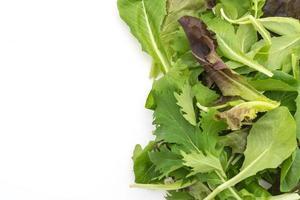mistura de salada com rucola, frisee, radicchio e alface de cordeiro foto