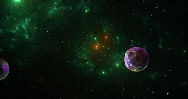 nebulosa, galáxia e planetas de fundo foto