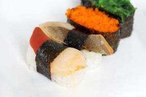 deliciosa comida japonesa foto