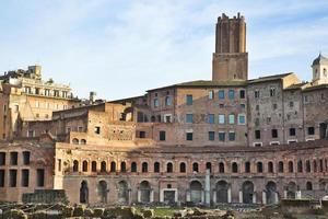 mercados de trajan em roma, itália foto