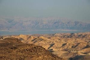 vista do deserto do deserto da Judéia, Israel foto