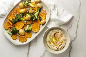 deliciosa refeição vegana rica em proteínas foto