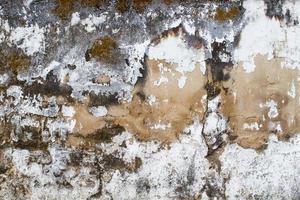 fundo ou textura velha da parede grunge danificada foto