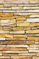 parede de tijolos desordenada ou irregular, fundo de textura foto