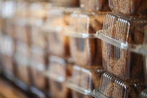 bagels qandil embalados, produtos de panificação, pastelaria e padaria foto