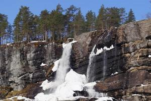cachoeira congelada na noruega foto