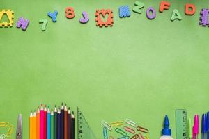 letras, números, papelaria. conceito de foto bonita de alta qualidade