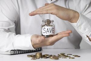 arranjo de jarra para economizar dinheiro. conceito de foto bonita de alta qualidade