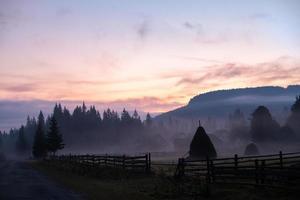 paisagem natureza vista da rua na paisagem, espaço para texto. foto