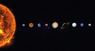 sistema solar. elementos desta imagem fornecidos pela nasa foto