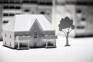 construção de modelo em escala de arquitetura de conceito de negócio foto