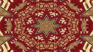 caleidoscópio de tapete étnico autêntico foto