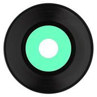 disco de vinil isolado foto