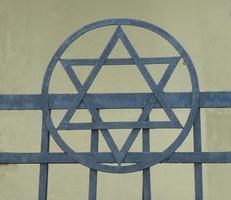 estrela de David, o símbolo da religião judaica foto