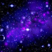 ilustrações quadradas de estrelas e nebulosas no espaço. foto