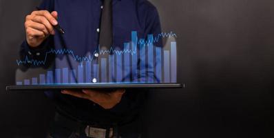 gráfico investidores estoque economia ícone ilustração mercado de ações foto