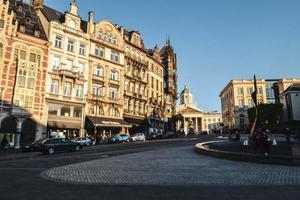 rua de bruxelas, bélgica, europa foto