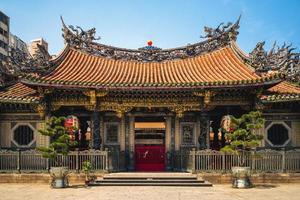 templo lungshan de manka foto