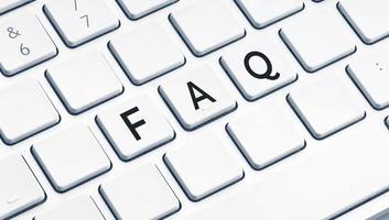 faq ou palavra de perguntas mais frequentes no teclado do computador moderno foto