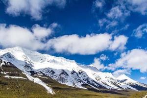 beira da estrada. Spray Valley Provincial Park foto