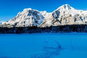 inverno na lagoa de cunha. Parque provincial do vale do spray. foto