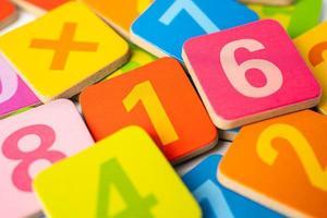número matemático colorido foto
