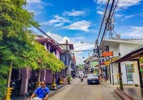 bares de rua, restaurantes em vila de pescadores, bo phut, koh samui, tailândia, 2018 foto