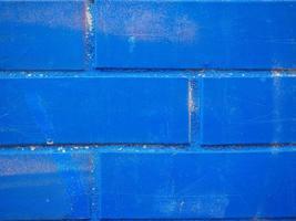 fundo de parede de tijolo azul foto