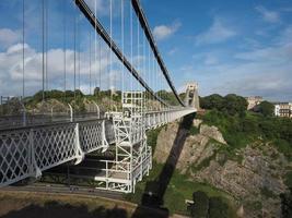ponte suspensa de clifton em bristol foto