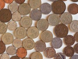 moedas de libra, reino unido foto