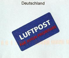 envelope de carta via aérea foto