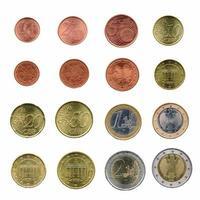moedas de euro, união europeia foto