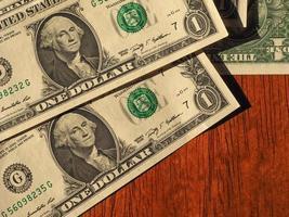 notas de dólar, estados unidos com espaço de cópia foto