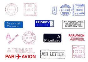medidores postais internacionais isolados foto