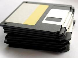 pilha de disquetes foto